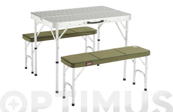 Mesa camping de aluminio pack away 4 personas