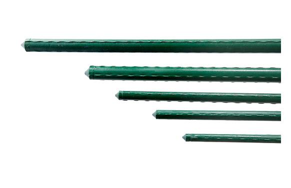 Tutor acero plastificado dia 8mm largo 0,90m
