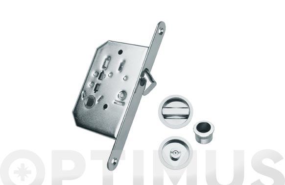 Cerradura para puerta corredera 35mm lp plateado