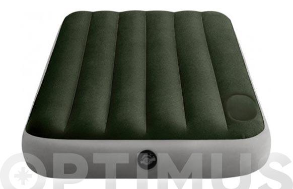 Colchon-cama hinchable individual con inflador 99x121x25 cm