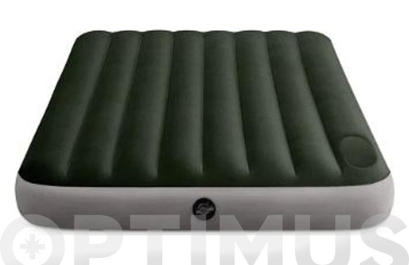 Colchon-cama hinchable doble con inflador  152x203x25 cm
