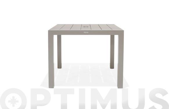 Mesa aluminio duraboard morella 88x88 cm