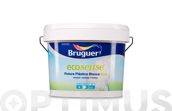 Pintura plastica ecosense blanco mate 15 l