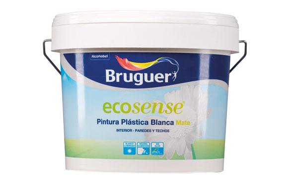 Pintura plastica ecosense blanco mate 4 l