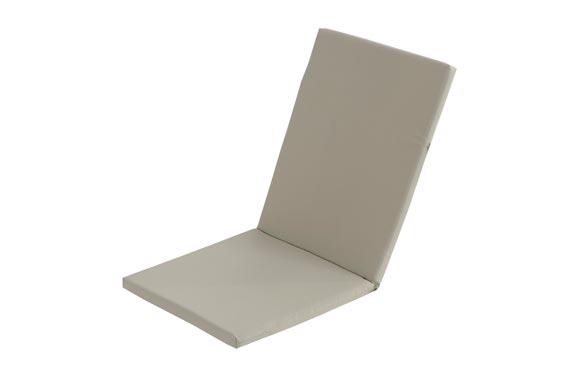 Cojin silla + respaldo taupe 95 x 44 x 3 cm