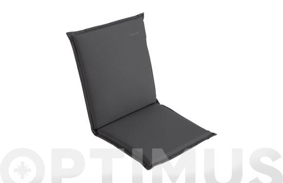 Cojin silla + respaldo gris oscuro/claro 100 x 49 x 4 cm