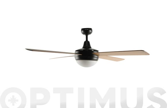 Ventilador techo siroco 3042b 60w 106 cm negro/madera luz led
