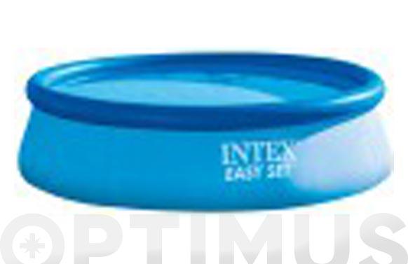 Piscina redonda autoportante easy set pool ø 396 x 84 cm con depuradora