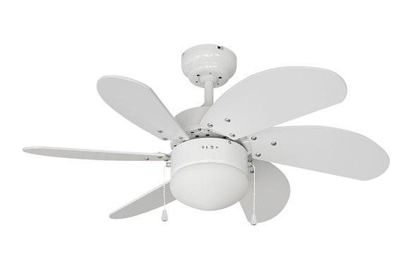 Ventilador de techo modelo aral blanco 50w ø aspas 76 cm