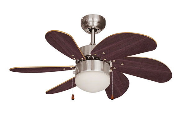 Ventilador de techo modelo aral wengue/niquel sati 50w ø aspas 76 cm