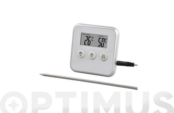 Termometro cocina con sonda y temporizador