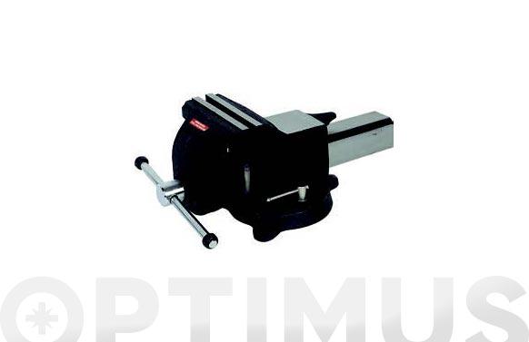 Tornillo de banco de acero 100 mm base giratoria