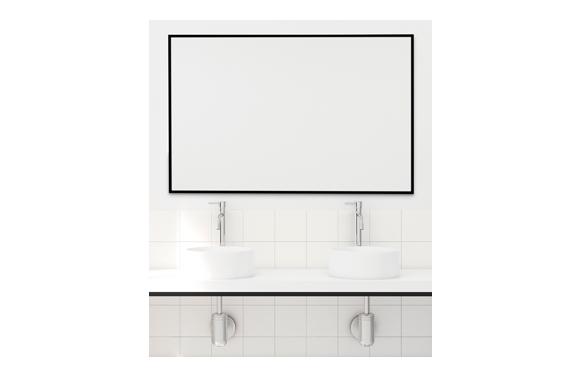 Espejo marco 60x80cm negro