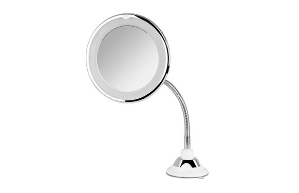 Espejo baño aumento x10 con pie y ventosa ø17cm