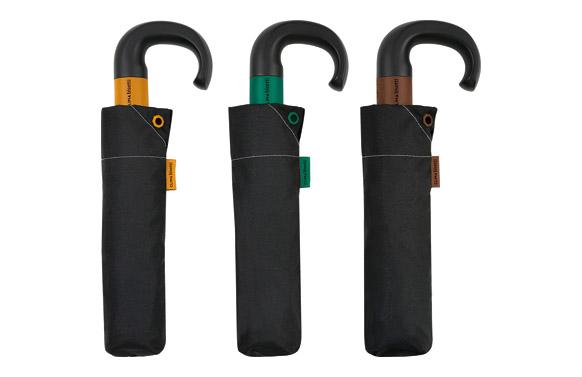 Paraguas plegable señor automatico liso toque color
