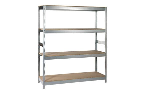 Estanteria metalica galvanizada , 4 estantes 190 x 150 x 60 cm